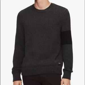 Calvin kliens colorblock grey  sweater cotton/silk